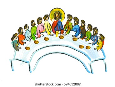Free Jesus Christ wallpapers, Christian photos, Jesus Christ pictures,  images, Gift Ideas: Last Super paintings and drawing arts of Jesus on Maundy  Thursday