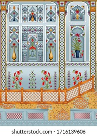 latest digital textile designs floral shirt for textile printing