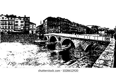 Latin Bridge is an Ottoman bridge over the river Miljacka in Sarajevo.