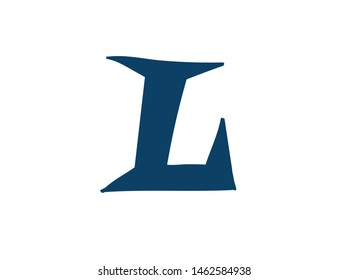 Latin letter L. Logo for the company. Icon for the site. Separate letter from the alphabet. Barbed pleasant shape.