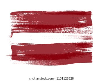 Latvia colorful brush strokes painted national baltic country Latvian flag icon. Painted texture.