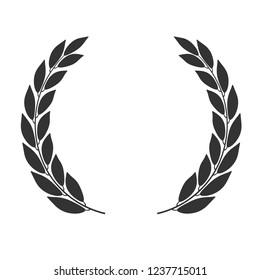 Laurel wreath  icon isolated on white background