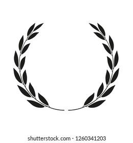 Laurel wreath isolated. Icon illustration.