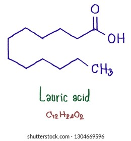 Lauric acid or systematically, dodecanoic acid, is a saturated fatty acid with a 12-carbon atom chain, thus having many properties of medium-chain fatty acids, is a bright white, powdery solid