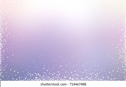 Lavender iridescent background. Lilac shining delicate texture. Empty powder blurred light illustration. Holiday glitter gentle template. Pale violet gleam winter style. Wonderful trend.