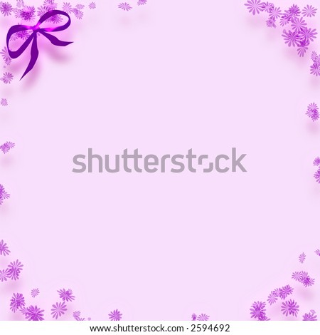 Lavender note paper flower border bowcardclipart stock illustration lavender note paper with flower border and bowcardclip art mightylinksfo