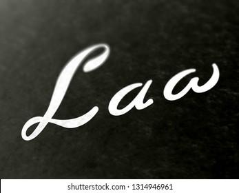 Law. 3D Illustration.