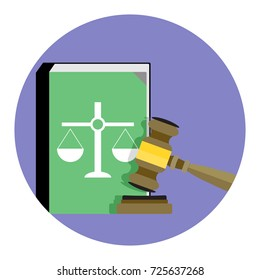 Law and Justice icon . Legal verdict, decision and justice, illustration
