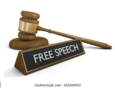 Laws for protection of free speech and free press, 3D rendering