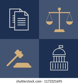 Lawyer, advocate man or jurist concept. Lawyer flat illustration