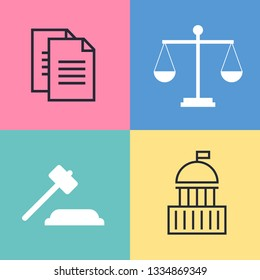 Lawyer, advocate man or jurist concept. Lawyer flat illustration
