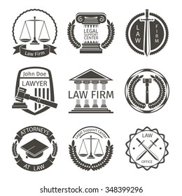 Lawyer and law office logo
