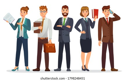 Lawyers team. Legal department, business or financial lawyer. Professional attorneys cartoon characters  illustration. Lawyer team professional, people consultant character