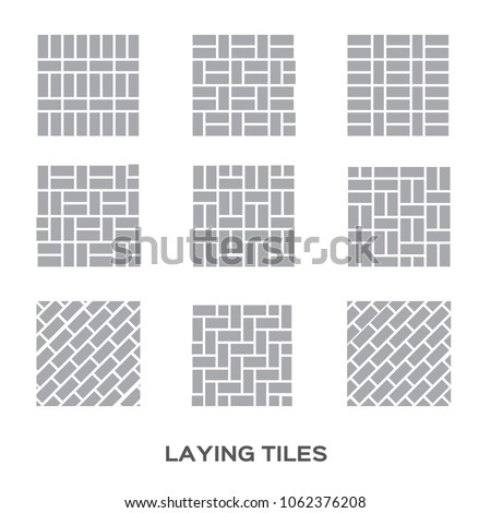 Laying Tile Interior Design Ceramic Tiles Stock