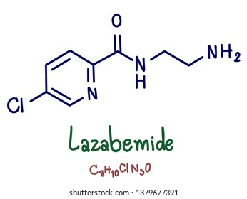 Lazabemide is a reversible and selective inhibitor of monoamine oxidase B that was under development as an antiparkinsonian agent but was never marketed.