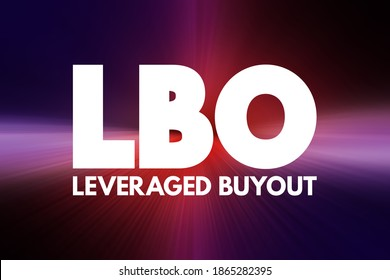 LBO - Leveraged Buyout acronym, business concept background
