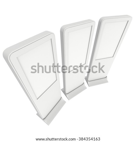 Expo Stands Kioski : Lcd kiosk stands different angles white stock illustration