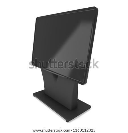 Lcd Screen Stand Trade Show Booth Stock Illustration Royalty Free