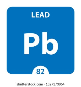 Lead Chemical 82 element of periodic table. Molecule And Communication Background. Lead Chemical Pb, laboratory and science background. Essential chemical minerals and micro elements