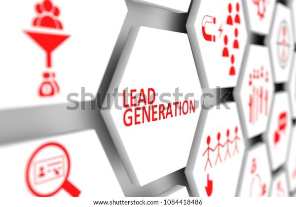 Lead-Generation-Konzept-Zelle unscharfer Hintergrund 3D-Abbildung