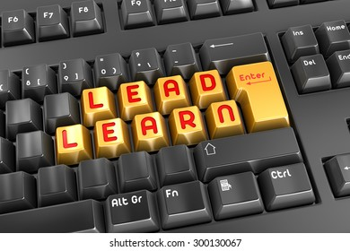 Lead and Learn , This is a computer generated and 3d rendered picture.