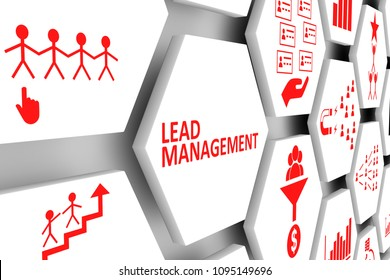 Lead management concept cell background 3d illustration