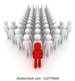 Leader. Concept. 3d illustration.
