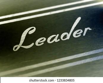 """""""Leader"""" on paper. Illustration."""
