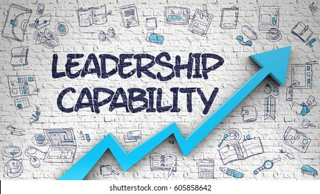 Leadership Capability Drawn on White Brickwall. 3d.