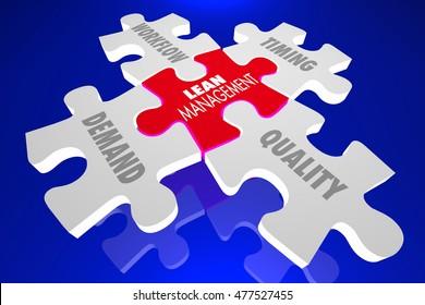 Lean Management Principles Puzzle 3d Illustration