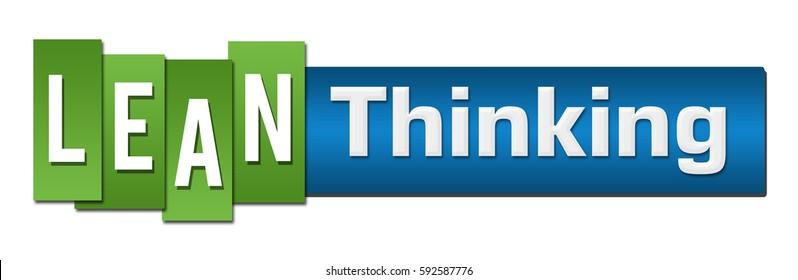 Lean Thinking Blue Green Stripes Bar