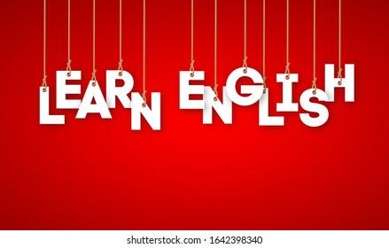 Learn English. Language education concept.