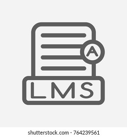 Learning management system line icon. Isolated symbol on webinar line icon topic with learning, management system and lms meaning  illustration.