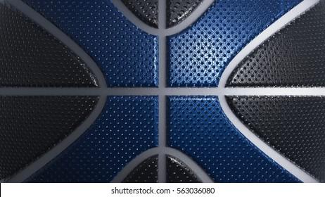 Leather Basketball Background. 3D illustration. 3D CG. High resolution.