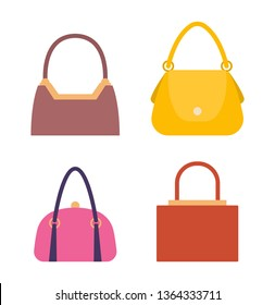 e6fcfe0b Leather handbags bags with handles and locks set. collection of women  stylish accessories for females