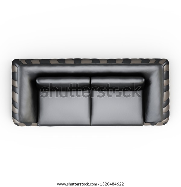 Leather Twoseater Sofa On White Background Stock Image Download Now
