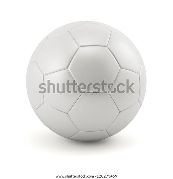 Leather white football. Soccer ball