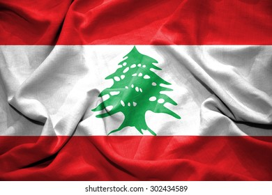 Lebanon flag. illustration