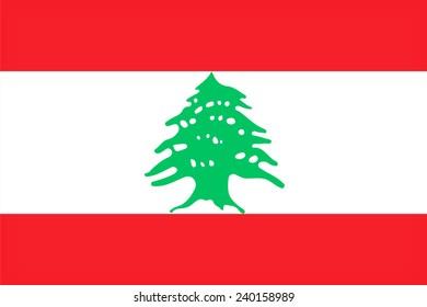 Lebanon flag pattern