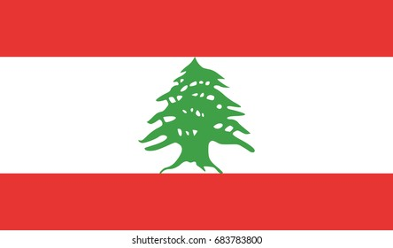 Lebanon national flag background