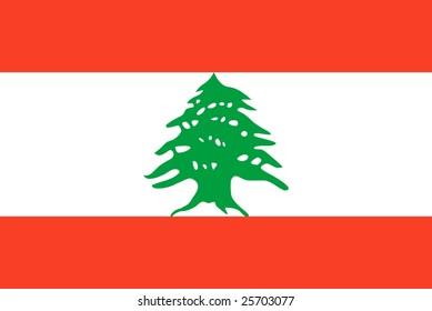 Lebanon national flag. Illustration on white background
