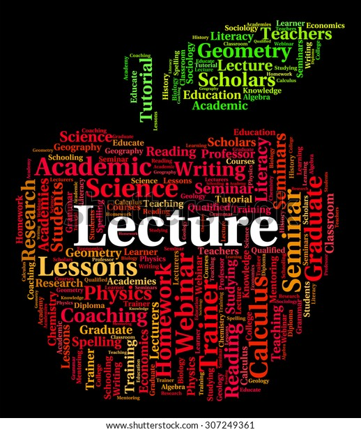 Lecture Word Showing Lessons Sermons Address Stock Illustration
