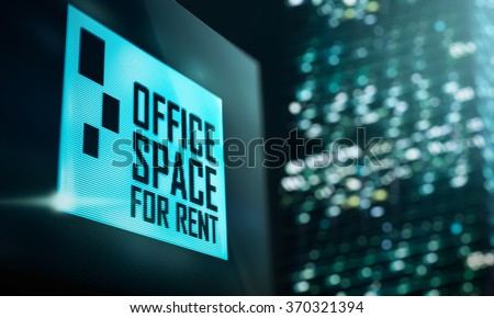 LED Display - Office space for rent signage