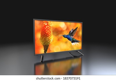 LED and LCD TV 3d render photo, 3d illustration photo