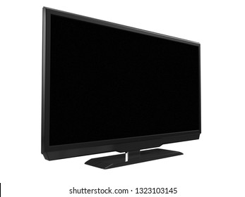 LED LCD tv isolated on white background. 3D rendering