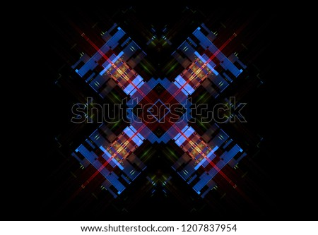 Led Light Abstract Effect Future Tech Stock Illustration - Royalty