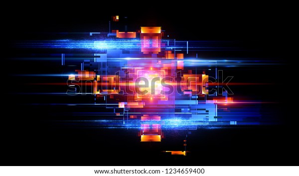 Led Light Abstract Effect Future Tech Stock Illustration