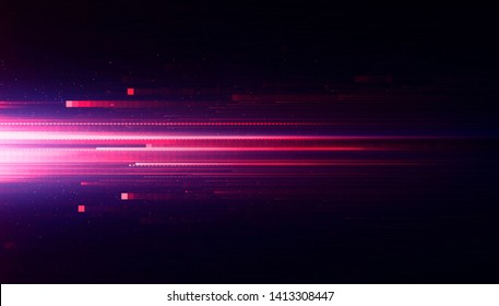 Led Light.  Future tech. Shine dynamic scene. Neon flare. Colorful rays. Magic moving fast lines. Sparkling studio. Hologram display. Mystic beam. Stylish fantasy space. Bright blurred waves.