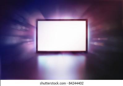 LED monitor abstract presentation screen