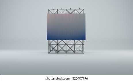 Led screen for metal construction